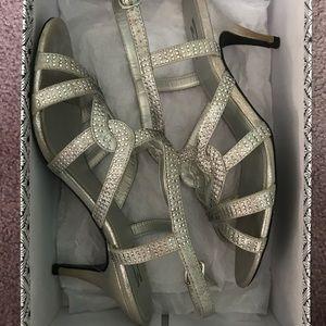 Silver Formal Heels size 9.5